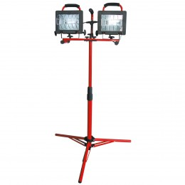 DOUBLE HALOGEN LAMP STAND