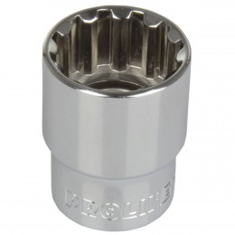 Spline sockets, 1/2'' drive