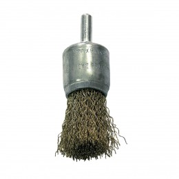 CRIMPED BRASS PLATED WIRE CUP BRUSHES