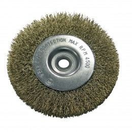 CRIMPED BRASS PLATED WIRE WHEEL BRUSHES