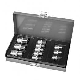 "11 PC. TORX SOCKET SET, 1/4"", 3/8"",1/2"" E4-E20"