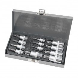 12 PC. SOCKET SET, TORX 1/4;, 3/8;, 1/2; DRIVE T8-T60