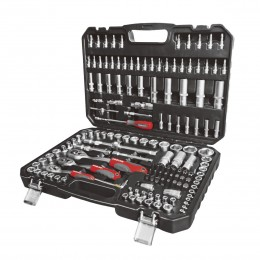 "150 PC. SOCKET SET, 1/4'', 3/8"" AND 1/2'' DRIVE, 4-32 mm"