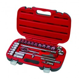 25 pc. socket set, 1/2'' drive, 8-32 mm