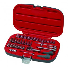 35 pc. socket set, 1/4'' drive, 4-14 mm