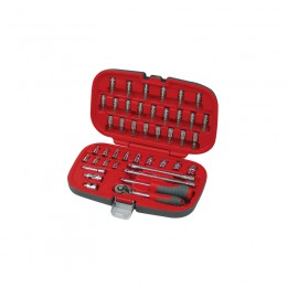 43 pc. socket set, 1/4'' drive, 4-14 mm