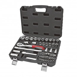 56 PC. SOCKET SET, 1/2'' DRIVE, 8-32 mm