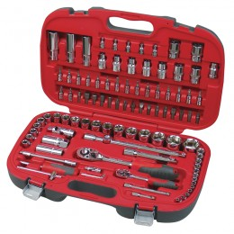 99 pc. socket set, 1/4'' and 1/2'' drive, 4-32 mm