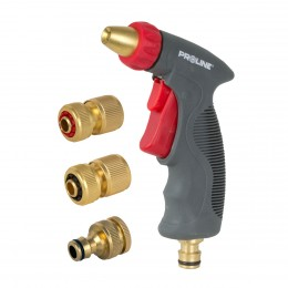 SPRAY GUN KIT, BRASS ADJUSTABLE NOZZLES 4 PC.
